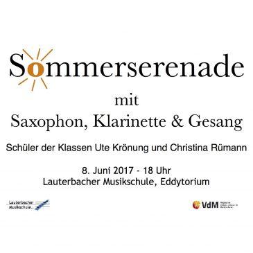 Schülerkonzert mit Klarinette, Saxophon und Gesang